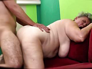 BBW Mature Finishes Him Off