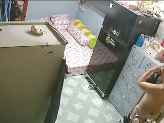 Unsecured Security Camera- Mother & Daughter after Bath
