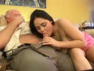 beautiful girl fuck old man